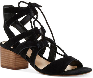 Vince Camuto Fauna Lace-Up Block-Heel Sandals $119 thestylecure.com