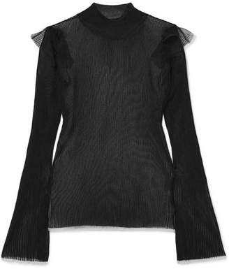 Noir Kei Ninomiya Ribbed-knit Top - Black