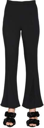 Marco De Vincenzo Cropped & Pleated Cady Stretch Pants