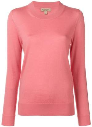 Burberry basic fitted jumper
