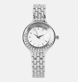 Avenue Floating Stones Metal Link Watch