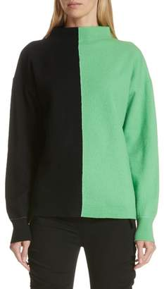 Robert Rodriguez Bicolor Boiled Wool Sweater