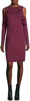 Three Dots Cold-Shoulder Sheath Dress