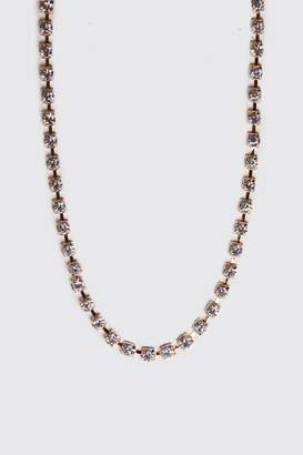 "BoohoomanBoohooMAN Mens Metallics 24"" Jewelled Chain Necklace, Metallics"