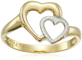 14k Gold Two-Tone Heart Ring