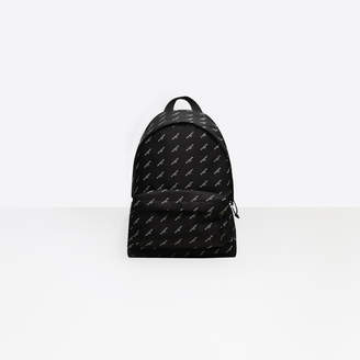Balenciaga Canvas backpack with all over logo print