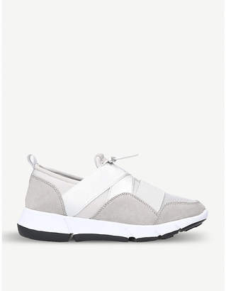 Miss KG Lauren mesh and faux-leather trainers
