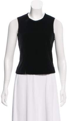 Magaschoni Velvet Sleeveless Top