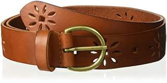 House of Boho Floral Perforated 100% Leather Belt