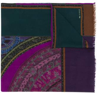 Etro printed wide scarf