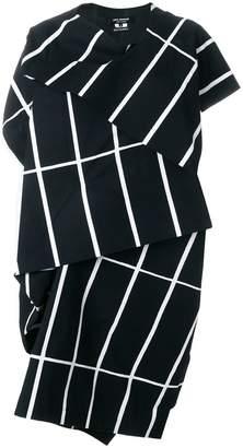 Junya Watanabe striped layered structured dress