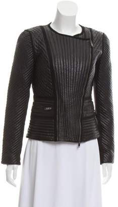 DKNY Quilted Leather Jacket
