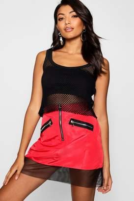 boohoo Artex Insert Mini Skirt