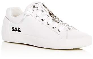 Ash Women's Nirvana Leather Zip Sneakers