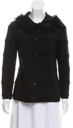 Fendi Wool Embroidered Cardigan