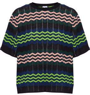 M Missoni Pointelle And Crochet-Knit Top