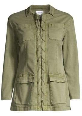 Current/Elliott Women's The Laced Jacket - Army Green - Size 2 (M)