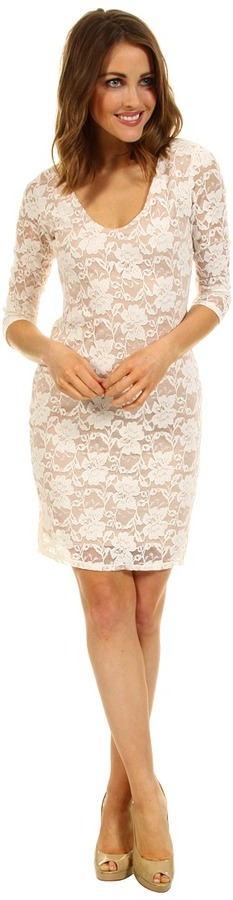 Type Z Hadly Lace Dress (Ivory/Nude) - Apparel