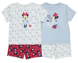 Disney George Minnie Mouse Pyjamas 2 Pack