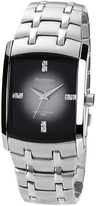 JCPenney Armitron Mens Degrade Gray Rectangular Watch
