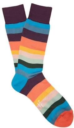 0bfed0fd0ec6e2 Paul Smith Artist Stripe Cotton Blend Socks - Mens - Multi