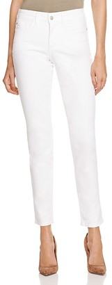 NYDJ Clarissa Ankle Skinny Jeans in Optic White $110 thestylecure.com