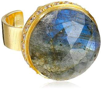 """Riviera Coralia Leets Jewelry Design Collection"""" Pave Round Adjustable Ring"""