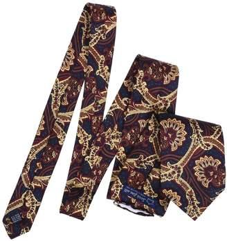 Serà Fine Silk - Blue And Yellow Paisley Silk Printed Tie