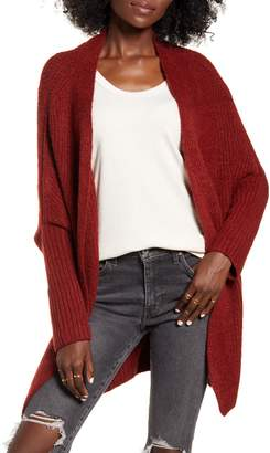 DREAMERS BY DEBUT Ribbed Dolman Sleeve Cardigan