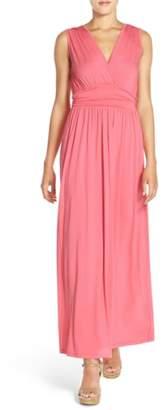 Fraiche by J Surplice Jersey Maxi Dress