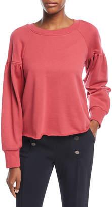 A.L.C. Gilmore Crewneck Long-Sleeve Cotton Sweatshirt
