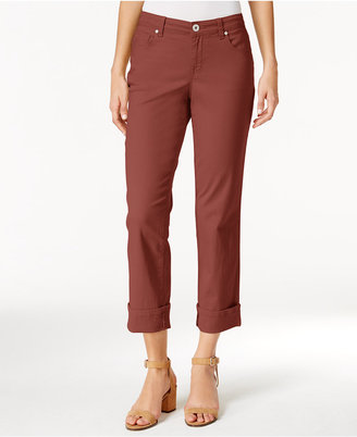 Style & Co Curvy Cuffed Capri Jeans, Only at Macy's $24.98 thestylecure.com