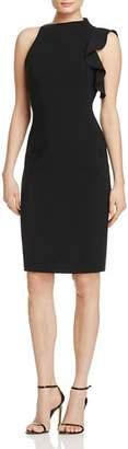 Black Halo Pabla Ruffle Sheath Dress