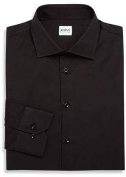 Giorgio Armani Slim-Fit Solid Dress Shirt