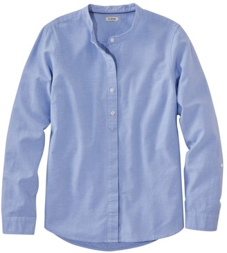 L.L. Bean L.L.Bean Women's LakewashedA Organic Cotton Oxford Shirt, Roll Tab