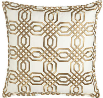 "Isabella Collection by Kathy Fielder Braedon Embroidered Pillow, 19""Sq."