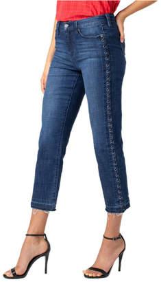 Liverpool Sadie crop straight eyelet jeans
