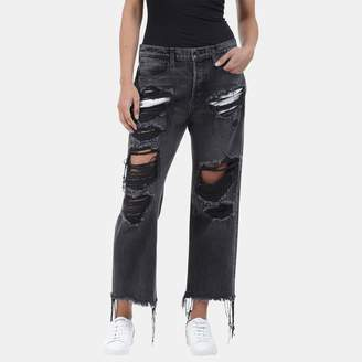 Alexander Wang Ride Skinny Jean in Grey Fade