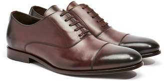 Harry's of London Charles Dark Brown Satin Calf Leather Oxford Shoe