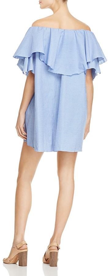 MLM Label Maison Gingham Off-the-Shoulder Ruffle Dress 3