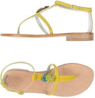 LISA C BIJOUX Toe strap sandals