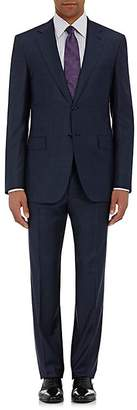 Barneys New York Men's Lotus Wool Sharkskin Two-Button Suit