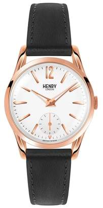 Richmond Henry London Leather Strap Watch, 30mm