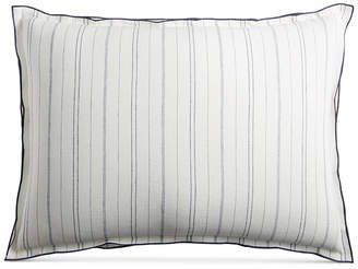 Hotel Collection Closeout! Linen Ticking Stripe King Sham
