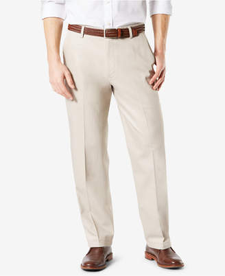 Dockers New Signature Lux Cotton Relaxed Fit Stretch Khaki Pants