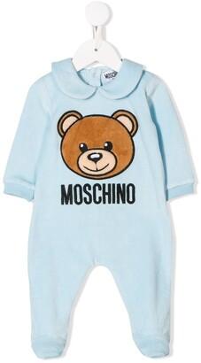 Moschino Kids teddy bear logo pajamas