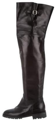 Michael Kors Leather Over-The-Knee Boots Black Leather Over-The-Knee Boots