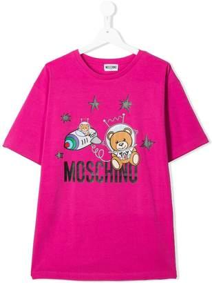 Moschino Kids TEEN astronaut teddy T-shirt
