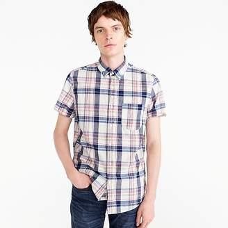 J.Crew Short-sleeve madras shirt in indigo plaid