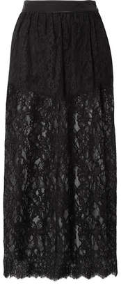 Fleur Du Mal Cotton-blend Lace Midi Skirt